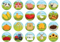 Collection of farm related icons
