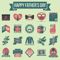 Collection of father's day labels