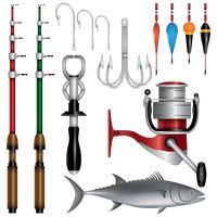 Collection of fishing items