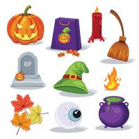 Collection of halloween items