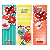 Collection of heart banner