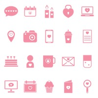 Collection of heart icons