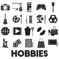 Collection of hobby icons