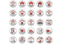 Collection of house icons