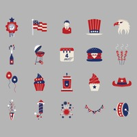 Collection of independence day icons