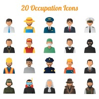 Collection of job icons