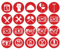 Collection of labor day icons