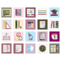 Collection of learning icons