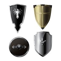 Collection of medieval shields