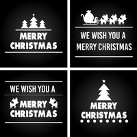 Collection of merry christmas cards