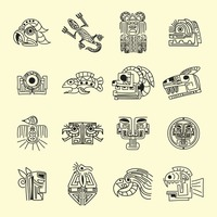 Collection of mexico tribal designs