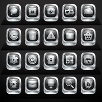Collection of mobile applications buttons