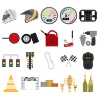 Collection of motor race equipment