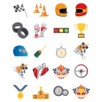 Collection of motor race icons