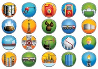 Collection of oil and gas related icons