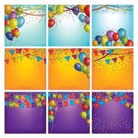 Collection of party decorations