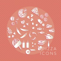 Collection of pizza icons