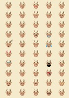 Collection of reindeer emoticons
