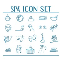 Collection of spa icons