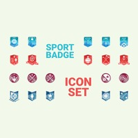 Collection of sports badge icons