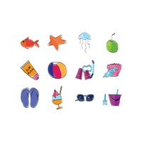 Collection of summer holiday items