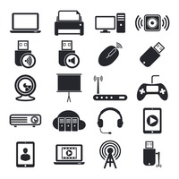 Collection of technology devices