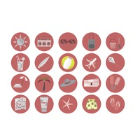 Collection of travel holiday icons