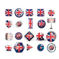 Collection of united kingdom flag icons