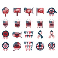 Collection of us elections icons