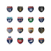 Collection of us road shields