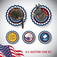 Collection of usa election icons