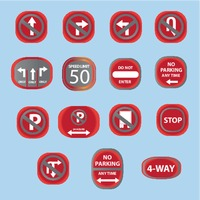Collection of usa road sign icons