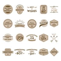 Collection of wish labels