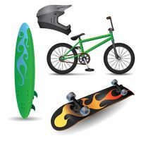 Compilation of sports equipment