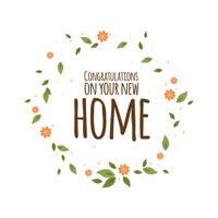 Modren Congrats New House Home Card Intended Design