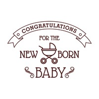Congratulations for the new born baby card