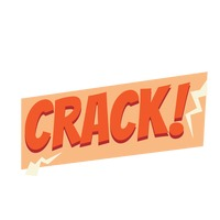 Crack comic speech bubble