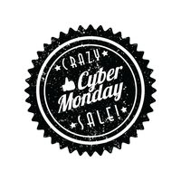 Crazy cyber monday sale label