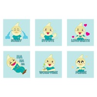Cute emoticon expressions