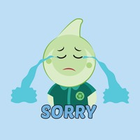 Cute emoticon saying sorry