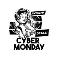 Cyber monday awesome deals label