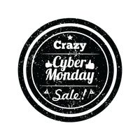 Cyber monday crazy sale label