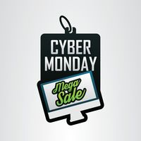 Cyber monday mega sale label