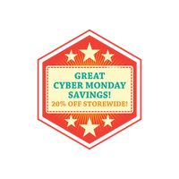 Cyber monday savings label