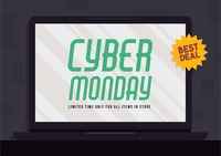 Cyber monday super sale wallpaper
