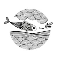 Decorative fish design