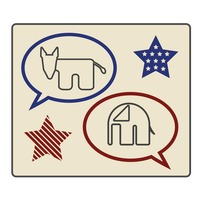 Democratic and republican party label
