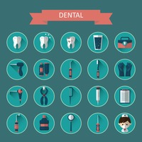 Dental icon collection