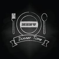 Dinner time menu design