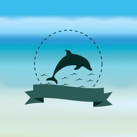 Dolphin with banner